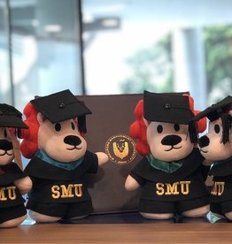 "Graduation Bear Smoo Smoo Graduation Plush 8"", Purple"