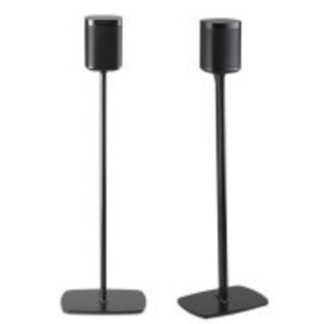 Flexson Sonos One/One SL/Play:1 Fixed Height 2 Pack Floor stand in Black or White Finish