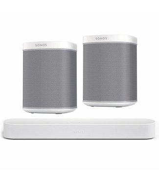 Sonos Beam Soundbar + 2x Play 1 Speaker bundle