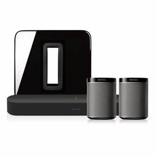 Sonos Beam + Sub (Gen:2) + 2x Play:1 Speaker Bundle