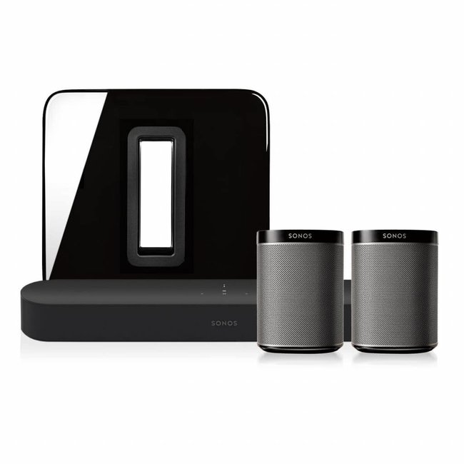 Sonos Beam + Sub (Gen:2) + 2x Play:1 bundle
