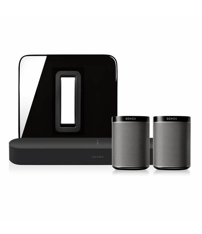 Sonos Beam + Sub + 2X Play:1 bundle