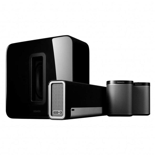 Sonos Playbar Soundbar + Sub (Gen:2) + 2x Play:1 Speaker Bundle