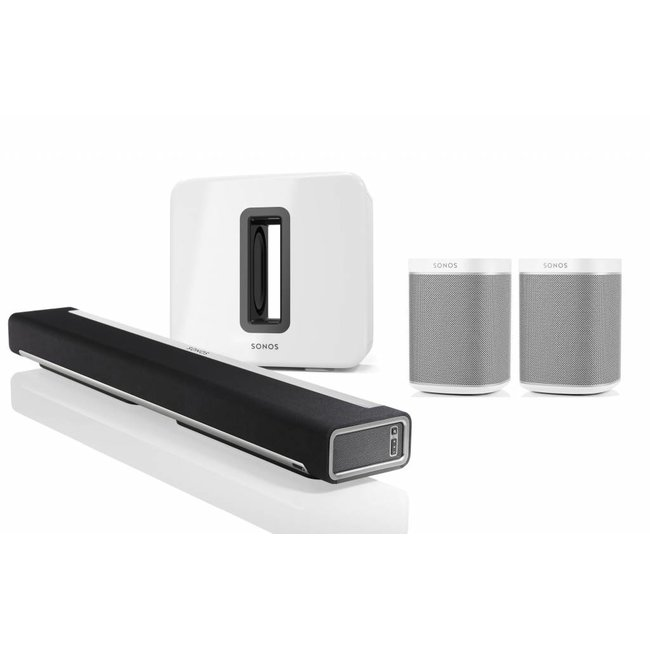 Sidste nye Sonos Playbar & Sonos Sub (Gen:2) & 2x Sonos Play:1 Speaker Bundle LU-62