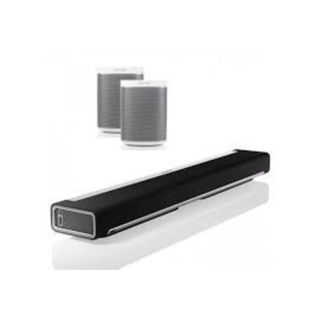 Sonos Playbar Soundbar + 2x Sonos Play:1 Speaker Bundle