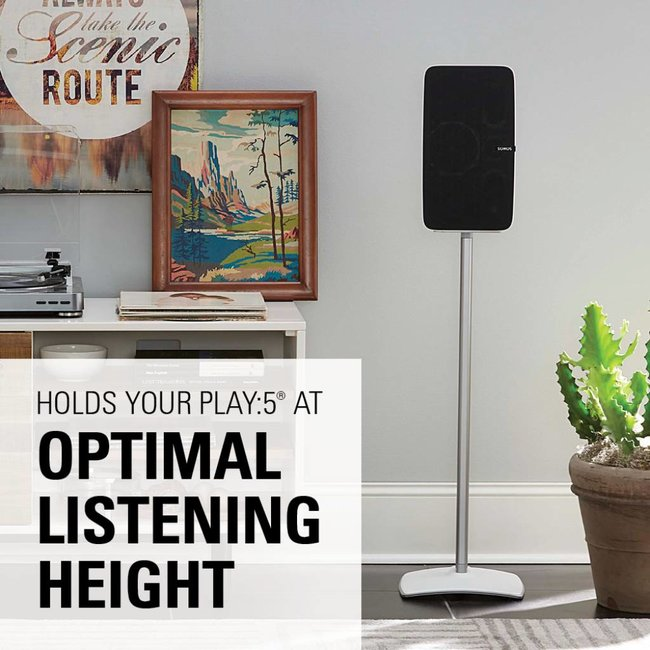 Sanus WSS51 Fixed Height speaker stand for Sonos Five/Play:5