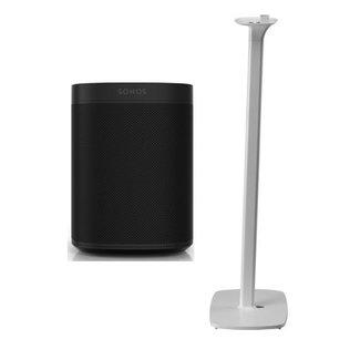 Sonos One (Gen:2) Speaker + Flexson Floor Stand Bundle