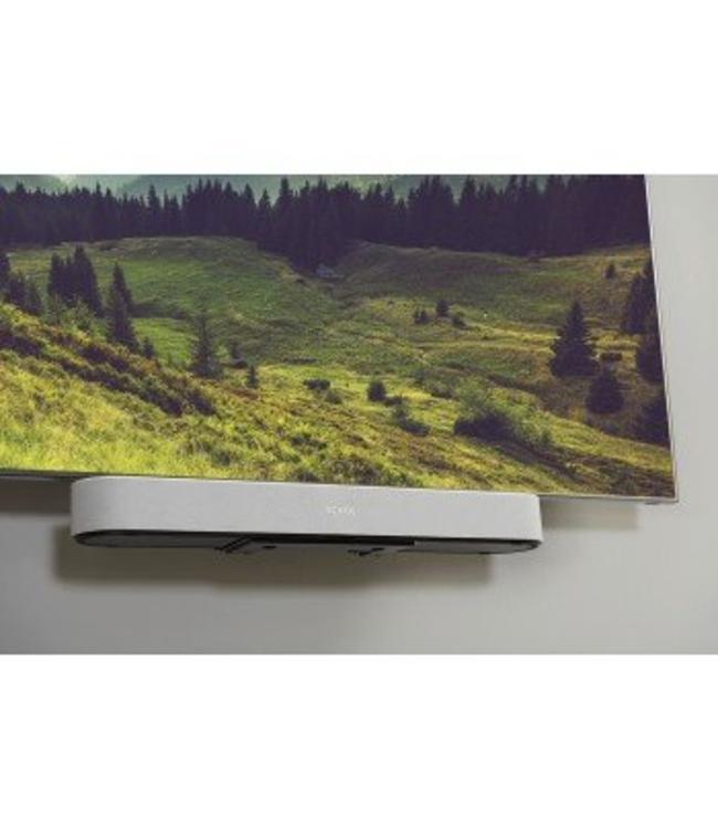 Sonos Beam 3.0 Compact Soundbar + Sanus TV Mount Attachment Bundle