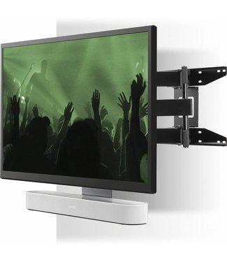 Sonos Beam 3.0 Compact Soundbar + Flexson cantilever TV mount bundle 65in