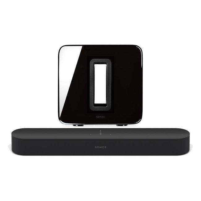 Sonos Beam 3.0 Compact Soundbar & Sonos Sub (Gen:2) Bundle