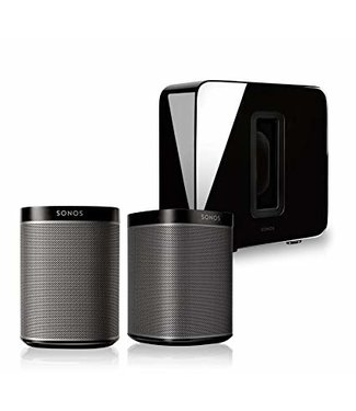 Sonos 2x Play:1 Smart Speaker & Sonos Sub Bundle