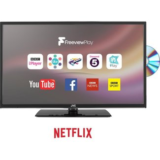"""JVC LT-24C685 24"""" Smart LED/DVD Combi TV"""