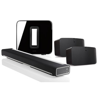 Sonos Playbar + Sub (Gen:2) + 2x Play:5 (Gen:2) Speaker Bundle