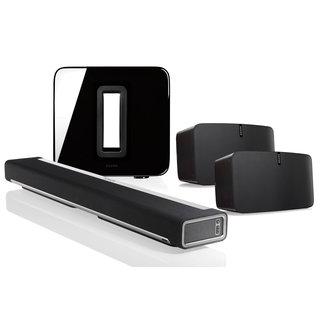 Sonos Playbar + Sub (Gen:2) + 2x Play:5 (Gen:2) Speaker Bundle