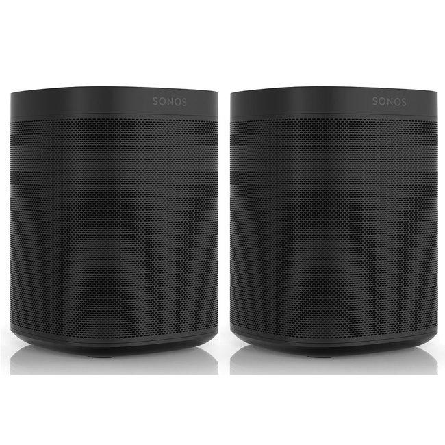 Sonos One Gen:2 2 Pack Speaker Bundle in Black or White