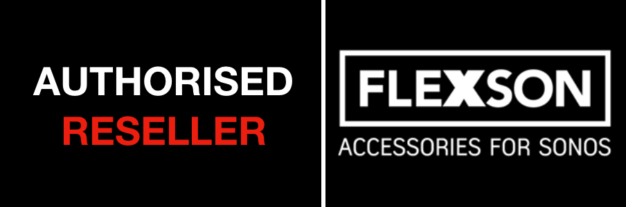 Flexson Authorised Reseller logo from Powerbutton