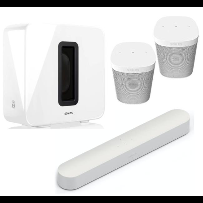Sonos Beam Soundbar + Sub + 2x One SL 5.1 Speaker Bundle