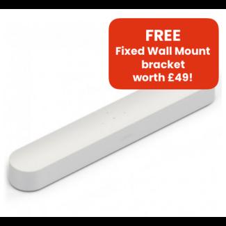 Sonos Beam Soundbar + Flexson Wall Mount Bundle