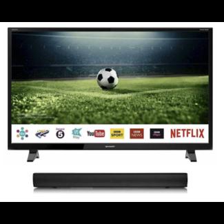 "SHARP LC50CFG6001KF 50"" Inch Full HD Smart LED TV + DGTEC Soundbar Bundle"