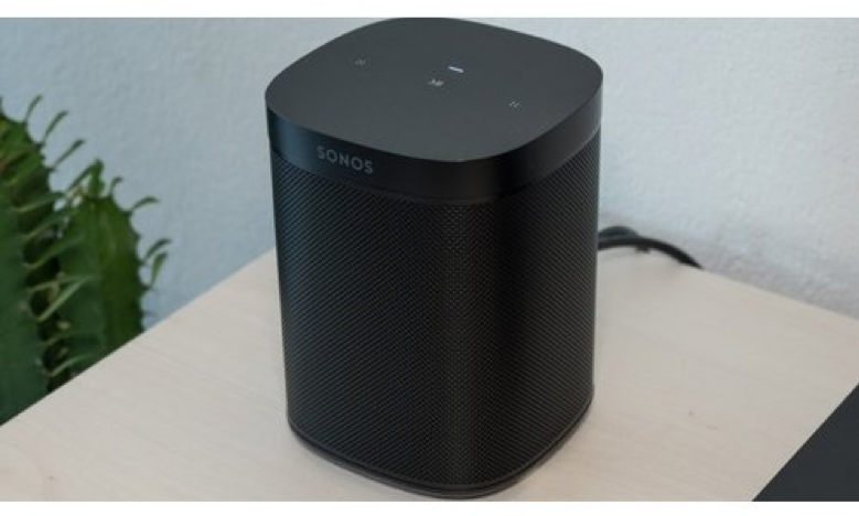 Sonos One speaker in a domestic setting