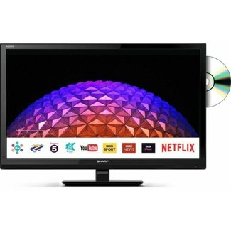 "SHARP LC24DHG6001KF 24"" Inch Smart Freeview Play LED/DVD TV"