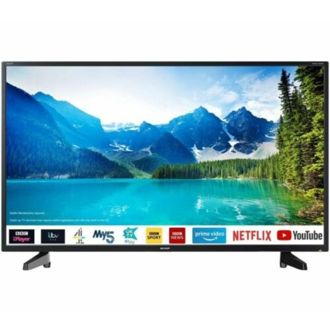 "SHARP 2T-C40BG2KE1FB 40"" Inch Full HD Smart LED TV with Freeview Play"