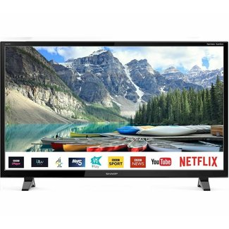 """SHARP 1T-C32BC0KO2FB 32"""" Smart HD Ready LED TV with Freeview Play"""