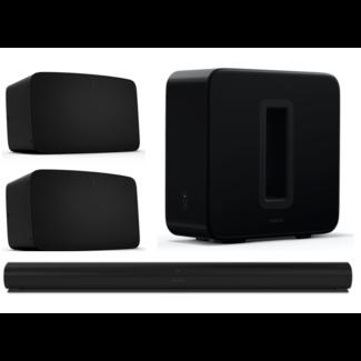 Sonos Arc, Sub (Gen:3) + 2x Five 5.1 Speaker Bundle
