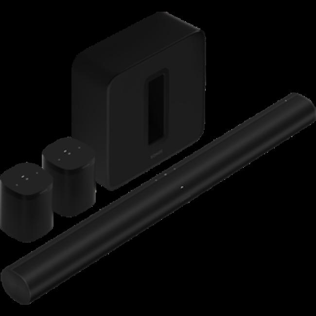 Sonos Arc, Sub (Gen:3) + 2x One SL 5.1 Home Cinema Bundle