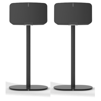 NOVA 2 Pack Fixed Height Floor Stand Sonos Five/Play:5 Gen:2 Speaker