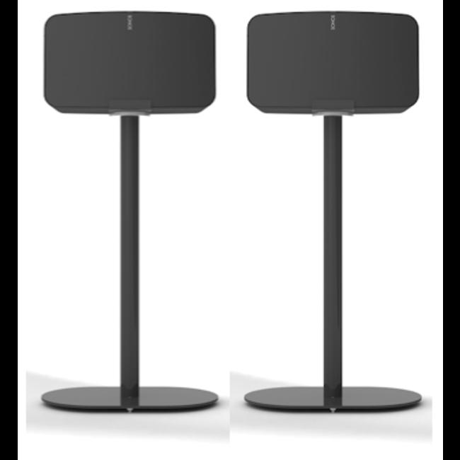 NOVA 2 Pack Fixed Height Floor Stand Sonos Five/Play:5 Gen:2 Speaker