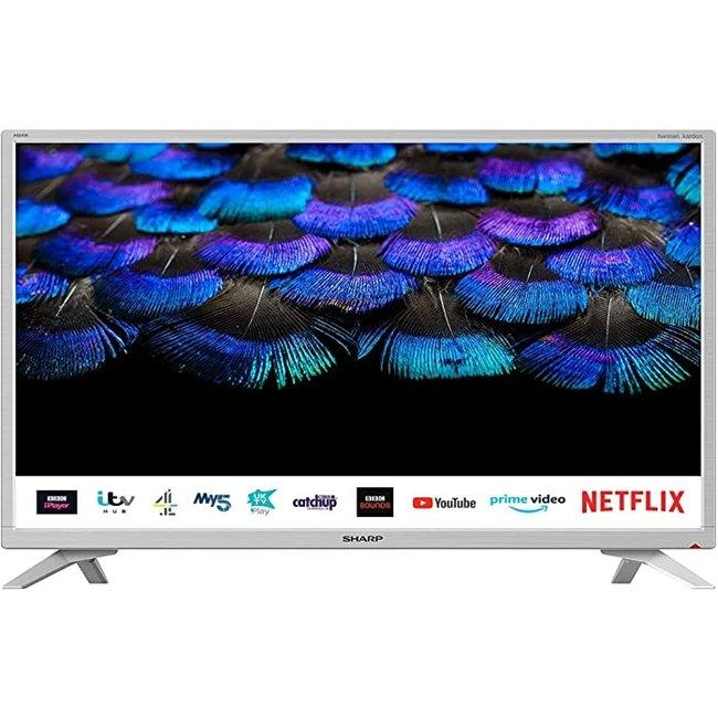 "SHARP 1T-C32BC2KH2FW 32"" Inch Smart White LED TV"