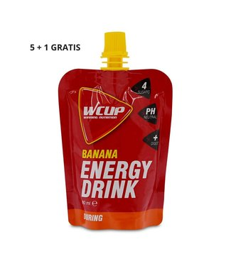 Wcup Wcup energy drink banana 5+1 gratis