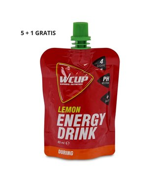Wcup Wcup energy drink lemon 5+1 gratis