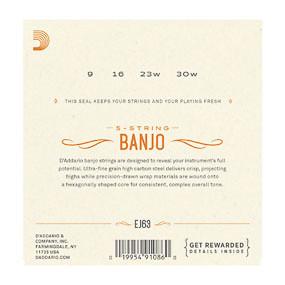 D'Addario D'Addario EJ63 Banjo Strings Medium