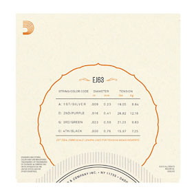 D'Addario D'Addario EJ63 Banjo Strings Medium
