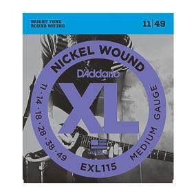 D'Addario D'Addario EXL115 11-49 Nickel Wound