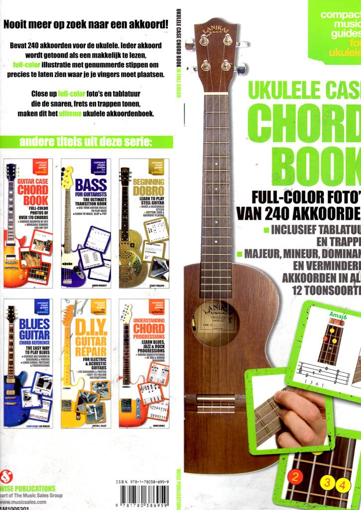 Various Ukulele Chord Book - Illustrated Full Colour
