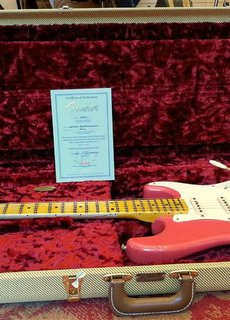 Fender Fender Limited 20th Anniversary Relic Strat Faded Fiesta Red ON HOLD