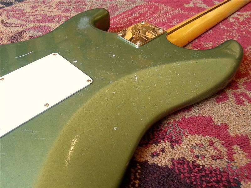 Fender Fender Custom Shop Master Design Todd Krause 1950s Strat Mos Green