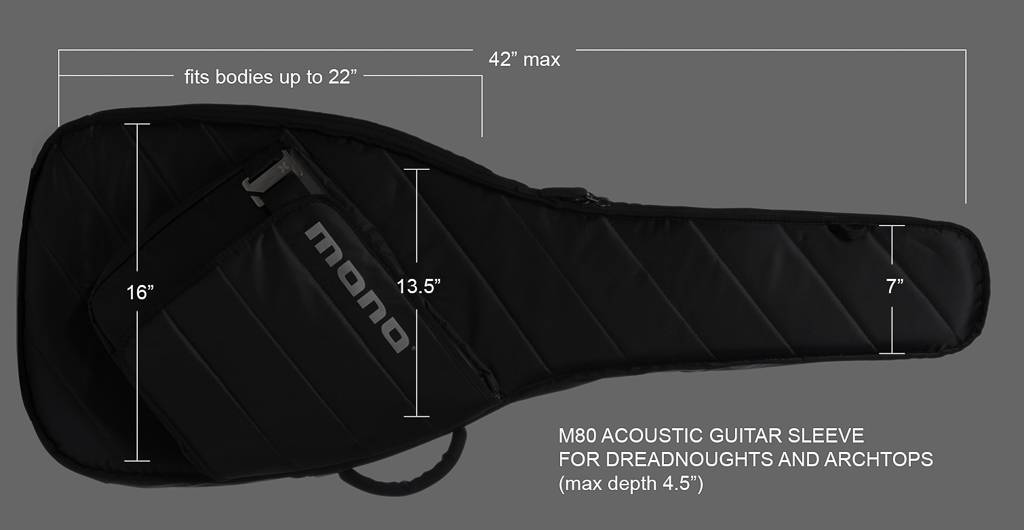 Mono Mono M80 Guitar Sleeve Acoustic Grey