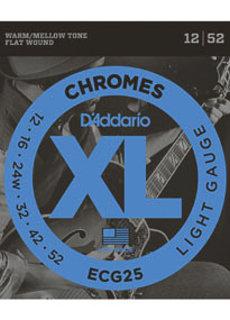 D'Addario D'Addario Chromes ECG25 12-52 Flatwound