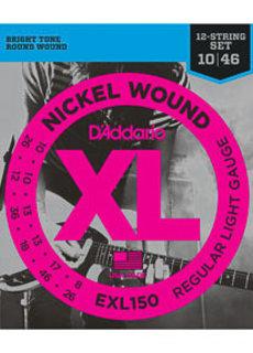 D'Addario D'Addario EXL150 12-String Electric Nickel Wound 10-46
