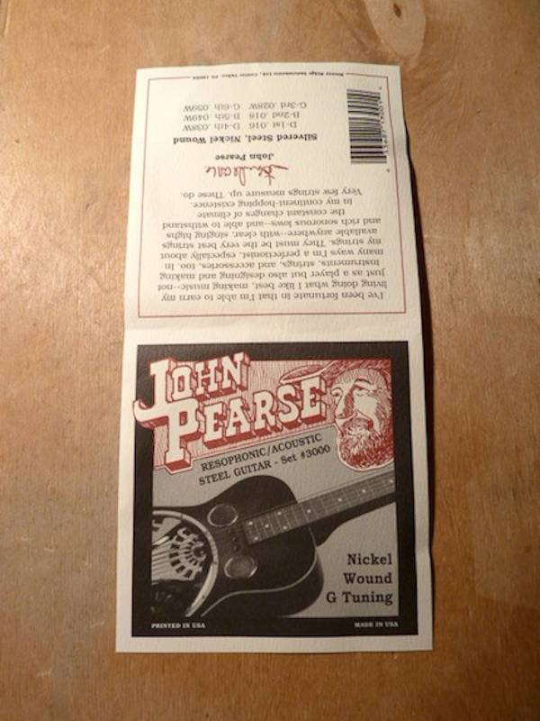 John Pearse John Pearse 3000 Nickel Wound Resophonic/Acoustic G Tuning
