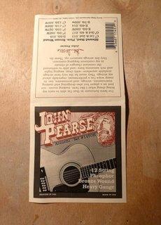 John Pearse John Pearse 1450H 12 String Phosphor Bronze Heavy Gauge