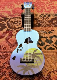 Mahalo Mahalo Soprano Ukulele Islands Blue Burst