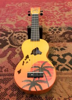 Mahalo Mahalo Soprano Ukulele Islands Orange Burst