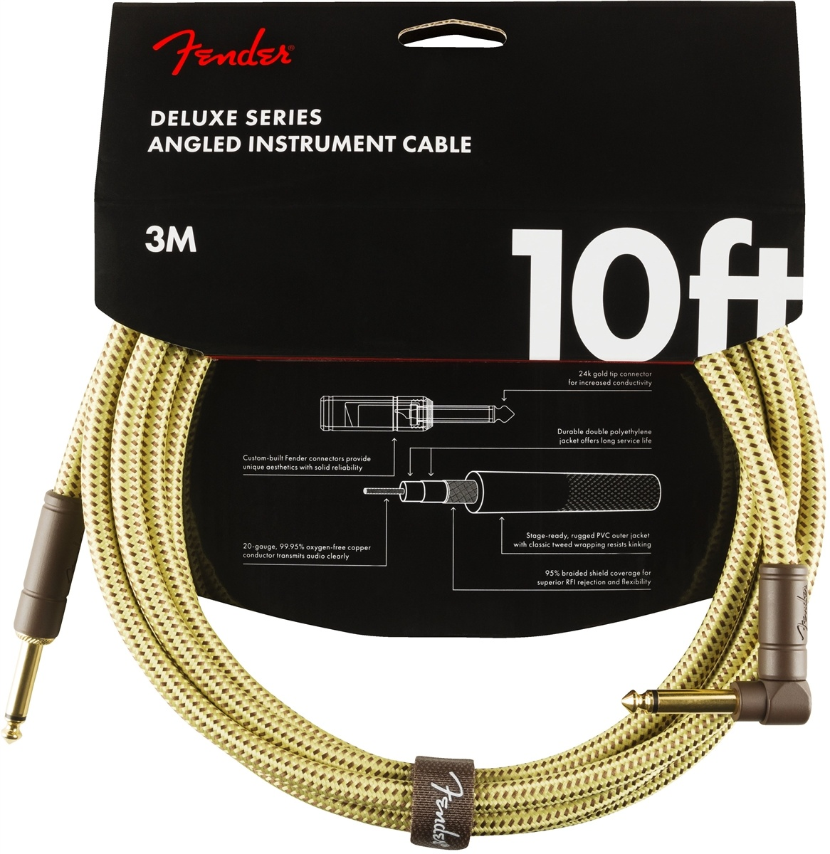 Fender Fender Custom Shop Cable Tweed 10ft H\R