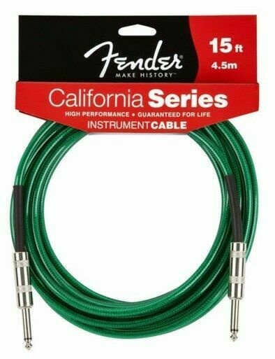 Fender Fender California Series Cable Surf Green 15ft R\R