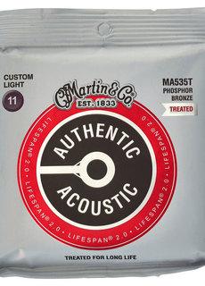 Martin Martin Authentic Treated Acoustic Lifespan MA535T Custom Light 11-52 Phosphor Bronze
